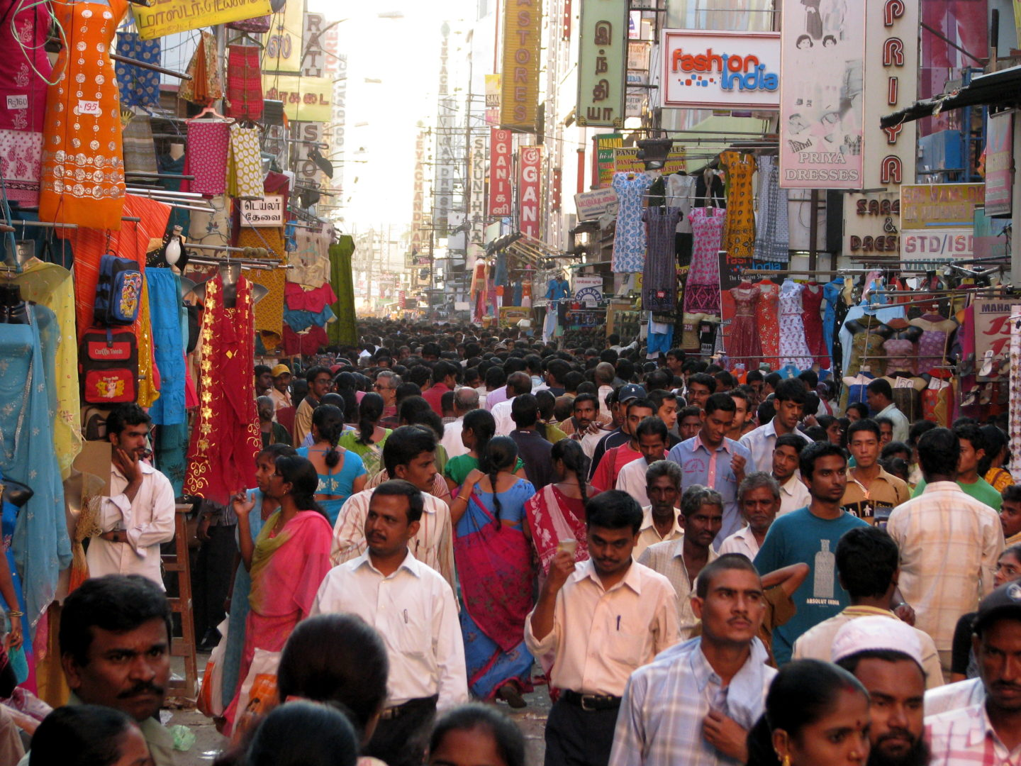 The T. Nagar market area in India FLICKR PHOTO